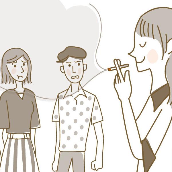久しぶりの受動喫煙に閉口